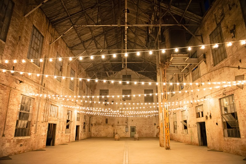Warehouse Wedding Lighting