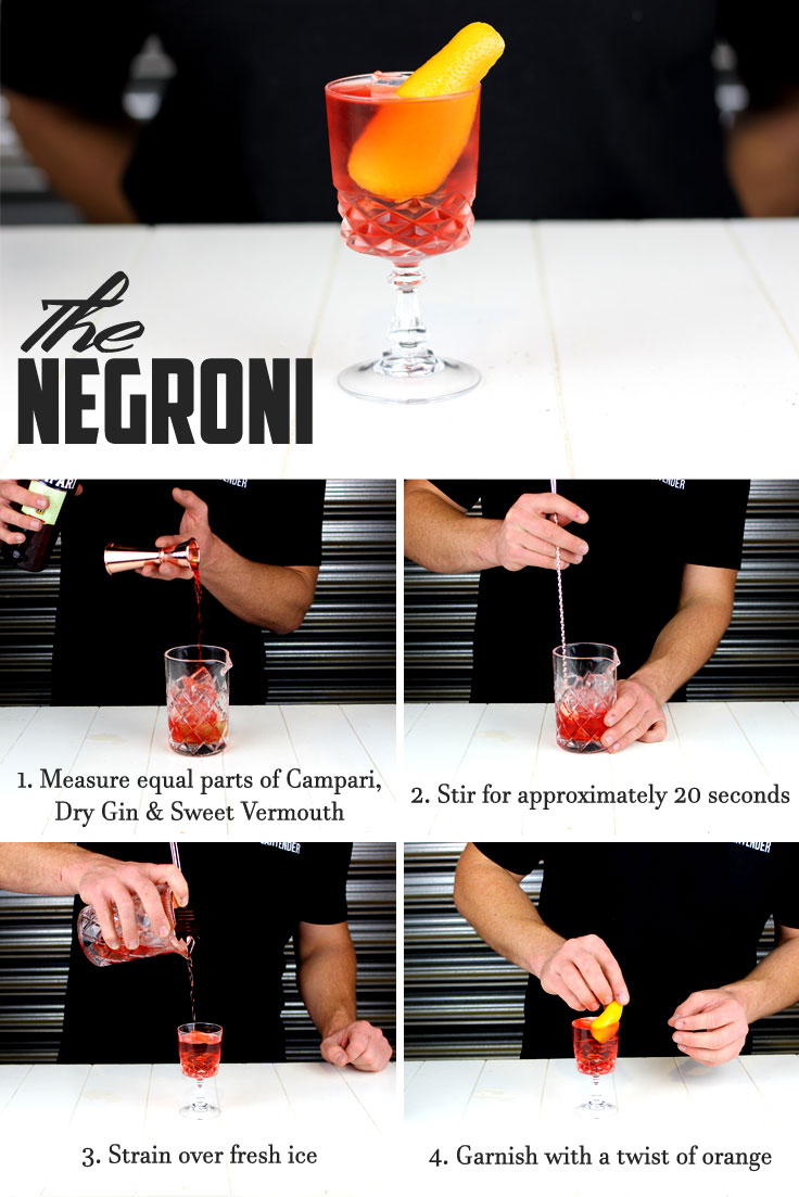 Negroni Cocktail Infographic