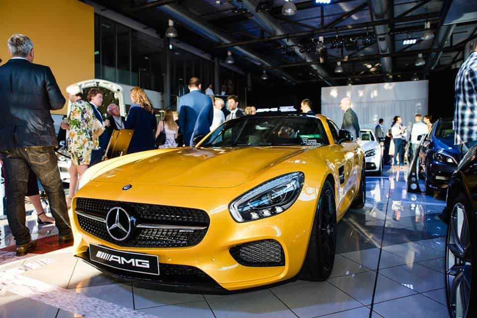 Yellow Mercedes Benz